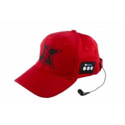 Sapca cu casti Bluetooth Serioux BLT-CAP01, Red