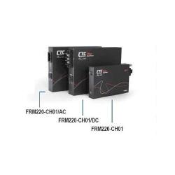 Sasiu fibra optica 1 slot cu alimentare externa AC   CTC Union   FRM220-CH01