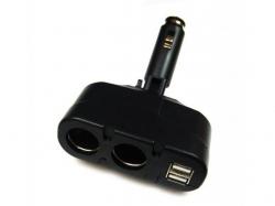 Spliter auto 2 cai, 2 x USB max. 700mA SOCKET2-USB-BU
