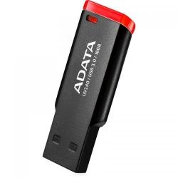 Stick Memorie A-Data Small Clip UV140 16GB, USB3.0 Black/Red