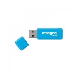 Stick memorie Integral Neon 16GB, USB 2.0, Blue