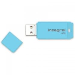 Stick memorie Integral Pastel 16GB, USB 2.0, Blue Sky