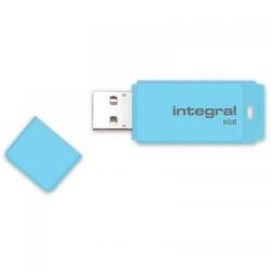 Stick memorie Integral Pastel 8GB, USB 2.0, Blue Sky