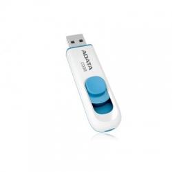 Stick memorie USB A-Data classic C008, 16 GB, alb cu albastru