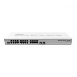 Switch MikroTik CRS326-24G-2S+RM L5, 24x LAN, 2x SFP+, PoE