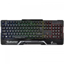 Tastatura Dragon War Gladiator, RGB LED, USB, Black