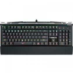 Tastatura Gamdias Hermes M2 Optical Blue Mecanica, RGB, USB, Black-Silver