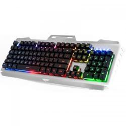 Tastatura Newmen GM816, RGB, USB, Black-Silver