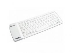 Tastatura Wireless Gembird Flexible KB-BTF1-W-US, Bluetooth, White