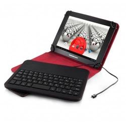 Tastatura Modecom MC-TKC08 pentru tableta de 7-8inch, Black-Red