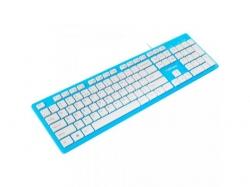 Tastatura Natec Discus Slim, USB, Blue-White