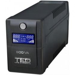 TED UPS Expert 900VA LCD DIsplay Line interactive cu stabilizator 2 iesiri schucko, DZ088390