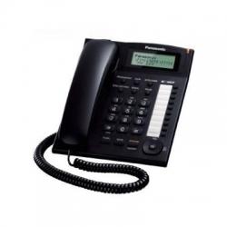 Telefon analogic Panasonic KX-TS880FXB u caller ID, speaker, Negru