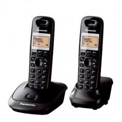 Telefon Panasonic DECT Twin KX-TG2512FXT cu caler ID, NEGRU