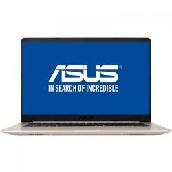 Ultrabook ASUS VivoBook S510UF-BQ049, Intel Core i5-8250U, 15.6inch, RAM 8GB, SSD 256GB, nVidia GeForce MX130 2GB, Endless OS, Gold Metal