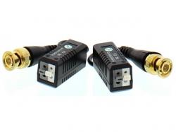 Video balun HD cu clip pentru cablu UTP/FTP; Cod EAN: 5948636027389