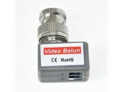 Video balun pentru transmisie semnal video prin cablu UTP, FTP torsadat, pentru CCTV BALUN-90-BU
