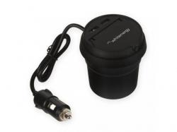 Incarcator auto Whitenergy, 2x USB, 3.1A, Black