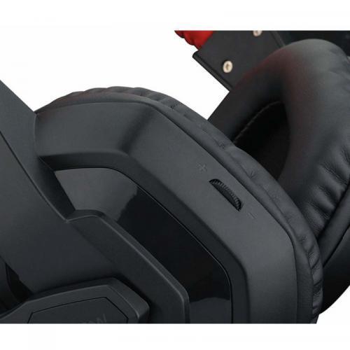 Casti cu microfon Redragon Ares, Black-Red