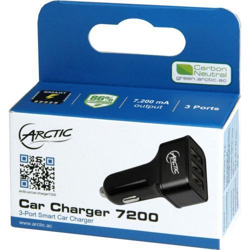 Incarcator auto Arctic Car Charger 7200, 3xUSB