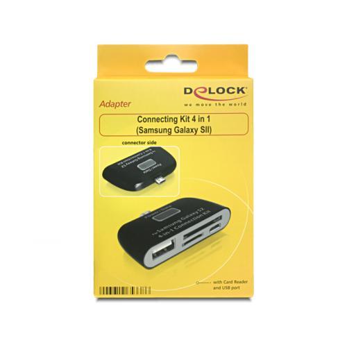Kit conectare mobil OTG 4 in 1 Samsung Galaxy S2, S3, S4, Delock 65338