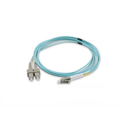 Patch cord Optic Nexans N123.5CLA5, Duplex LC-SC, 5m, Aqua