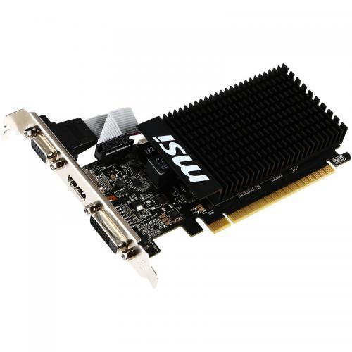 Placa video MSI nVidia GeForce GT 710 Silent Low Profile 2GB, GDDR3, 64bit