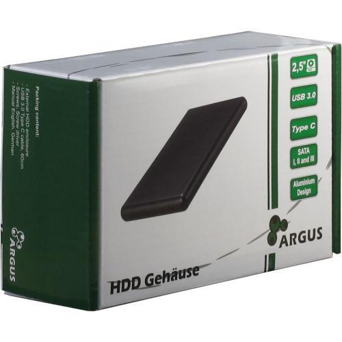 Rack Inter-Tech GD-25613-S3 USB Type C, Black